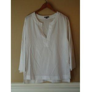 Vince V-Neck Cotton Tunic Top Size L EUC